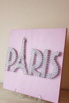 Eiffel Tower Paris String Art Sparkle and Shine por mintiwall Paris Room Decor, Paris Rooms, Paris Wall Art, Paris Bedroom Themes, Pink Paris Bedroom, Paris Birthday Parties, Paris Party, Spa Birthday, Thema Paris