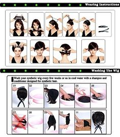 how to wear and wash a wig ? Short Curly Afro, Short Hair Wigs, Wigs With Bangs, Short Wavy, Long Wigs, Curly Wigs, Long Curly, Lolita Anime, Curly Hair Ponytail