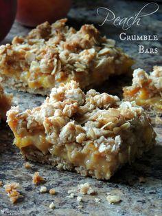 Fresh Peach Crumble Bars for Dessert - A Crumble Lover's Favorite!
