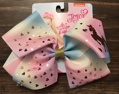 f530183890e JoJo Siwa Mythical Unicorn Ombre Signature Hair Bow Pink Cheer Pageant  Dance