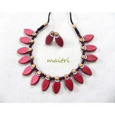 Terracotta Jewellery_The Red ChokerTerracotta  https://www.facebook.com/maitricrafts.maitri https://www.facebook.com/maitri.crafts maitri_crafts@yahoo.com