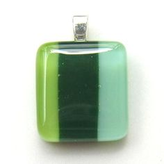 Fused Glass Pendant 0503e by LingGlass on Etsy