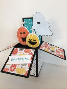 Halloween Box Card www.stampingwithlinda.com Make sure to check out my Stamp of the Month Kit Linda Bauwin – CARD-iologist  Helping you create cards from the heart.
