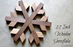 I'm not always in the mood for a ginormous snowflake, I like medium-sized things too. When I wanted to scale down the size of my original wooden snowflake plans, I felt like I needed to…