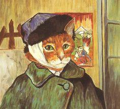 Susan Herbert Self Portrait Van Gogh by HeatherwoodArtPrints, $8.50