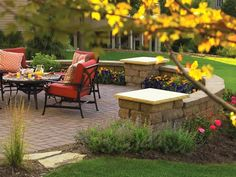 We love the idea of breaking up a big back yard with a partially walled in patio. This would look beautiful with stone from Minick Materials and is a relatively easy to understand DIY project.