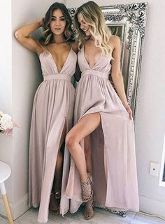 Charming Prom Dress, Sexy Chiffon Prom Dresses, High