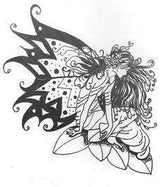 fairy tattoo sketch 5