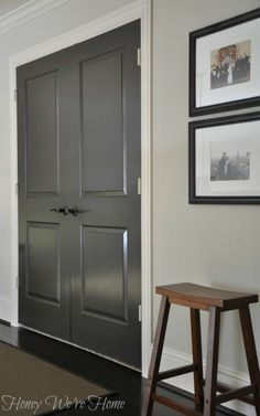 Scherwin Williams Black Fox on doors