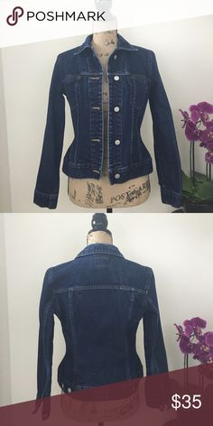 """The Limited Jean Jacket Versatile Jean Jacket from The Limited.  Pre-owned, excellent condition.    100% Cotton Chest measured pit to pit 18""""       Length 22 1/2"""" The Limited Jackets & Coats Jean Jackets"""