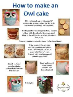 Make your own owl cake. Kids birthday party ideas  hey @Heather Stephens