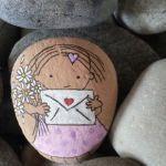 Valentine Painted Rocks 27