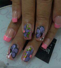 Summer French Nails, Spring Nails, Pedicure Designs, Nail Art Designs, Pretty Nail Art, Boxing Day, Gorgeous Nails, Fun Nails, Make Up