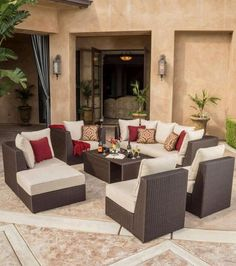 Malaga 9 Piece Modular Seating Set L From Outdoor Wicker Furniture Ideas