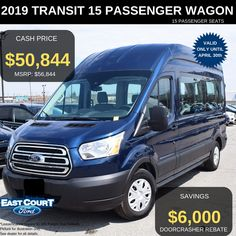 Stock# 04.21 - EC97061  $0 Down, OWN IT by paying $183/week for 72 months @4.99% APR.  Comes with 302A XLT Package. Also contains  >15 Passenger Seats  > Running Board Passenger door  >Heavy duty alternator  >Dual heavy batteries..... Ford Employee, Delivery Pictures, Car Deals, 2019 Ford, Ford Transit, Car Ford, Good News, Ontario, Running