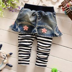 #NewYear #Popreal - #Popreal Flower Decorated Fake-Two-Piece Pants - AdoreWe.com