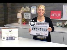 Heidi Swapp's Lightbox Intro - YouTube