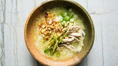 Chicken and Rice Soup with Green Chiles and Ginger Recipe | Bon Appetit