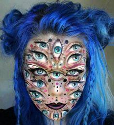Millions of Eyes Halloween Make Up