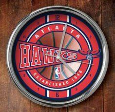Atlanta Hawks Chrome Wall Clock