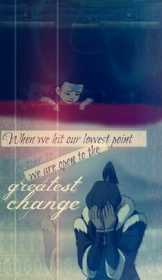 Both Aang and Korra have their hopeless points in life. But this only awakens them to change to who they really are and what they can really do. That is what an avatar and a normal person can do to stand up and fight once more. Korra Avatar, Team Avatar, Avatar Quotes, Avatar World, Sneak Attack, Spiderman, Avatar Series, Manga Quotes, Korrasami