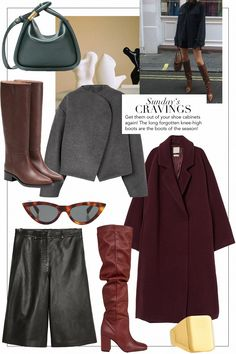 Sunday's Cravings: Knee High Boots Winter Fashion Outfits, Autumn Winter Fashion, Mode Dope, Vogue, Mode Inspiration, Classy Women, Knee High Boots, Minimalist Fashion, Creations