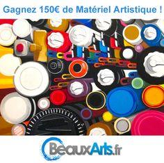 Cliquez ici pour participer et gagner 150€ de fournitures artistiques pour la rentrée des arts !