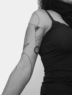 Line Tattoos, Word Tattoos, Sleeve Tattoos, Art Deco Tattoo, Tatoo Art, Minimal Tattoo Design, Geometric Tattoo Design, Symbolic Tattoos, Unique Tattoos