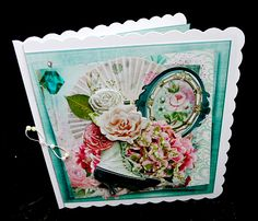 Victorian Memories Mini Kit on Craftsuprint designed by Barbara Hiebert - made by Diane Hitchcox - After printing out onto 240 gram card i mounted on a 7 by 7 card ,decoupaged using sticky pads ,added insert then attached a beaded elasticated bow. - Now available for download!