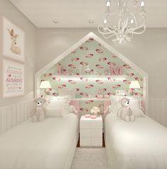 54 ideas baby twins room decor for 2019 Pink Bedroom Decor, Teen Room Decor, Baby Bedroom, Girls Bedroom, Baby Decor, Bed For Girls Room, Little Girl Rooms, Bedroom False Ceiling Design, Kids Bedroom Designs