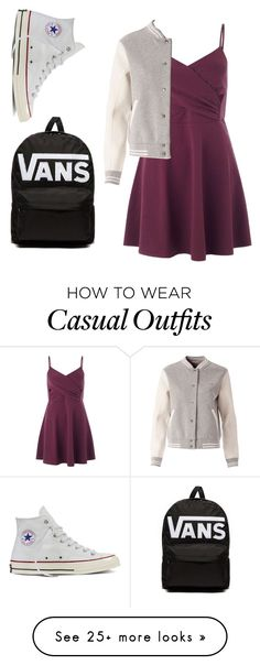"""School casual"" by small-as-an-elephant on Polyvore featuring Miss Selfridge, Tommy Hilfiger, Converse, Vans, StreetStyle and school"