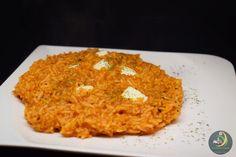 Tomaten-Risotto mit Mozzarellawürfeln