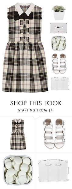 """aeril"" by twisterella ❤ liked on Polyvore featuring Miu Miu, Globe-Trotter and Abigail Ahern"