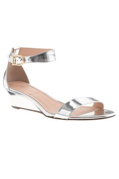 9f3e91d171b J.Crew Lillian Mirror Metallic Low Wedges - I wear these with pants