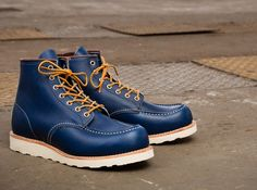 Working+Man++Blues;+Red+Wing+Shoes+8882+Classic+Moc+Toe+in+Indigo+Portage