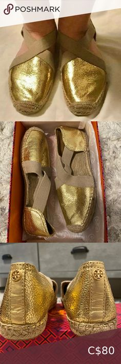 Worn a couple of times but in excellent condition. Size Comes with Box. Plus Fashion, Fashion Tips, Fashion Design, Fashion Trends, Tory Burch Flats, Couple, Times, Box
