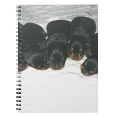 #Rottweiler Puppies Spiral Notebook - #rottweiler #puppy #rottweilers #dog #dogs #pet #pets #cute