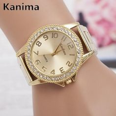 KANIMA Lovers Quartz Watches Women Men Gold WristWatches Top Brand Luxury Female Male Clock Golden Steel Watch Montre Femme 2017 #watches #watch #USA