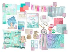 """Baby Girl Mermaid Nursery"" by werethejoneses on Polyvore featuring interior, interiors, interior design, home, home decor, interior decorating, Blabla, Circo, Fatboy and mermaidnursery"