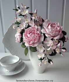 """Купить Букет """"На заре"""" - розовые пионы, эксклюзивный подарок, подарок на 8 марта"""