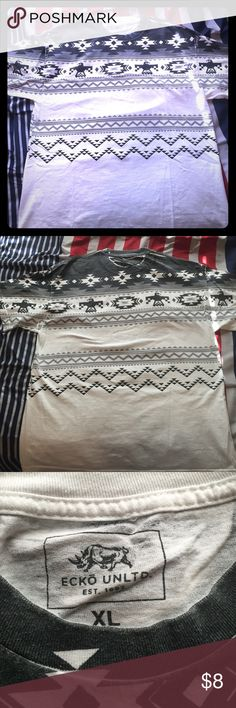 Black and white tribal print tee -used -tribal print -black and white -taking offers Ecko Unlimited Shirts Tees - Short Sleeve