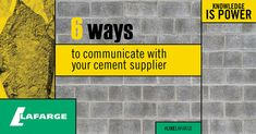 Communication is one of the most important aspects of any construction project. Here are six ways to improve communications with suppliers .