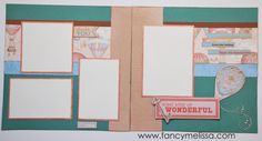 Some Kind of Wonderful 2-Page Scrapbook Layout www.fancymelissa.com #ctmh #balloonride #neutralcolors