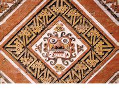 Mosaico decorativo. Huaca de la Luna. Moche, Perú.