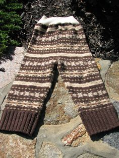 RePurposed Wool Longies / Pants  Stripy Longies by EverGreenBazaar, $17.00