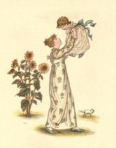 bumble button: Kate Greenaway illustrations to share with you. Children in Regency clothing.