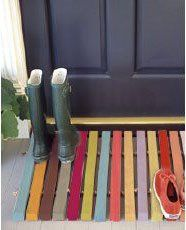 Pallet door mat, I love this because you can use it to scrape your boots off!