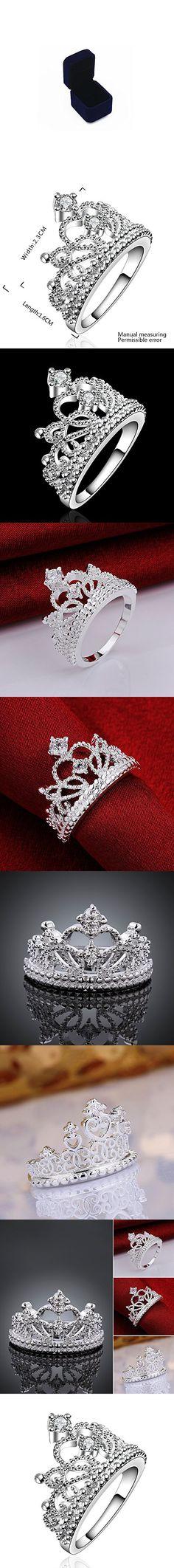 Sterling Silver 2 Pieces Princess CZ Bridal Engagement Wedding Halo Ring Set