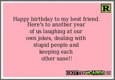 funny birthday cards for best friends - Google Search