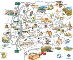 map of Vaucluse, Provence